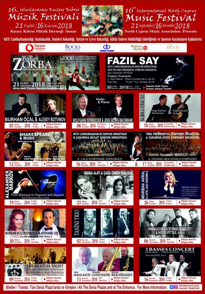 North Cyprus News - 16th North Cyprus Music Festival 2018